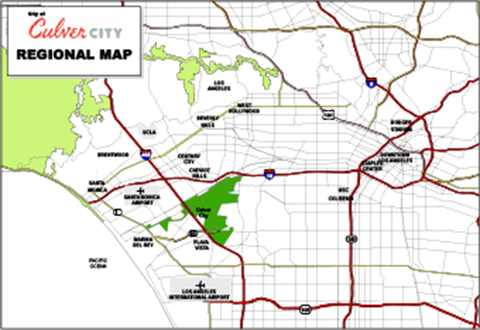 Image of the Culver City Regional Map.