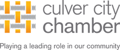 "Logo for Culver City Chamber of Commerce - ""Playing a leading role in our community"""